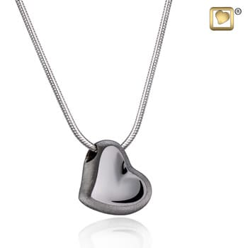 leaning Heart Midnight Two Tone